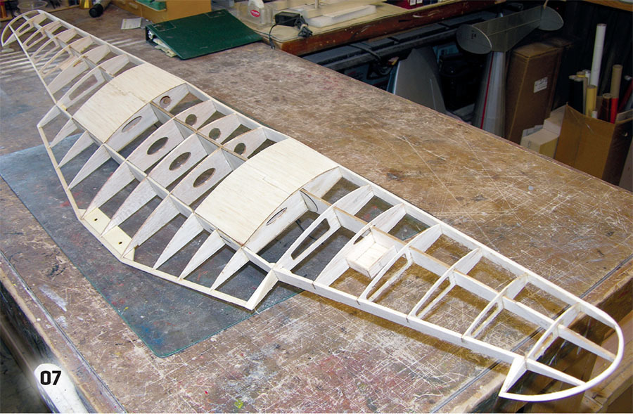 the wing assembly is complete and sanded to shape