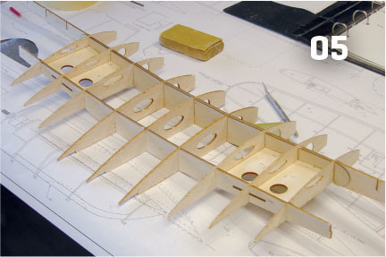 wing assembly begins by dry fitting the spars