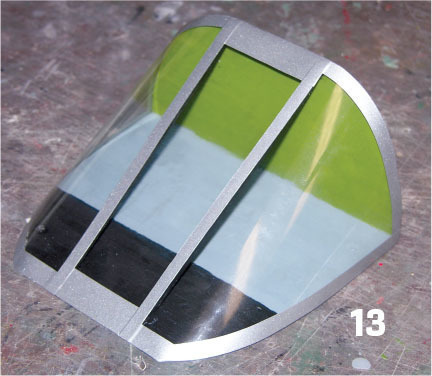the windshield battery hatch assembly is painted
